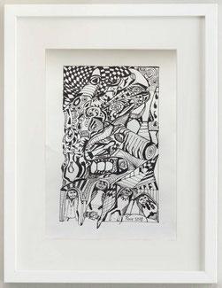La mano, 2019, Pennarello, 20 x 30