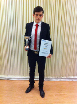 Jack Bristowe - Peterborough Evening Telegraph Junior Sportsman of the Year 2012