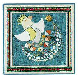 くるるの立体絵画「天を紡ぐ鳥」