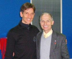 Mit Donald Jackson, dem Weltmeister von 1962.  (Villard de Lans, Mai 2008)