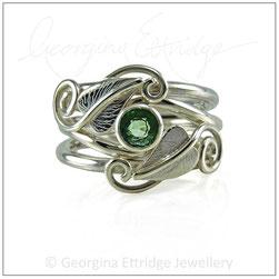 Unusual shaped organic wedding ring