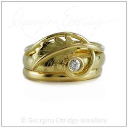 Oak Leaf Wedding Ring