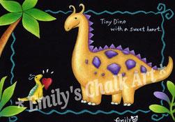 Tiny Dino and Dino friend.