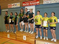 Pokalsieger TTC Tiefenlauter (Mitte), DJK Ettmannsdorf (links) und SpVgg Wolframs-Eschenbach