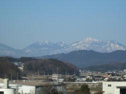 1月18日朝、栃木県、那須の連山を眺めて…