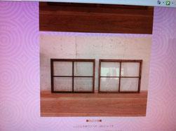 アンティーク窓枠