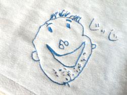 おじいちゃんの似顔絵タオル