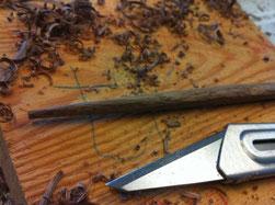 木のお箸作り 木くず