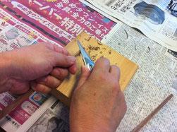 木のお箸作り
