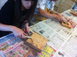 ダブルレインボー木のお箸作りクラス