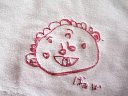 おばあちゃんの似顔絵タオル