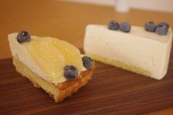 糸島フルーレ桃とブルーベリーのタルト