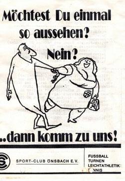 SC-Werbung und Vereinsprogramm 1981
