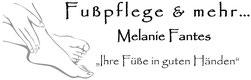 """Logo Fußpflege & mehr ... - Melanie Fantes """"Ihre Füße in guten Händen"""""""