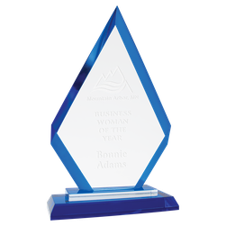 Regal Diamond Blue glass award