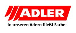 Adler Logo, In unseren Adern fließt Farbe