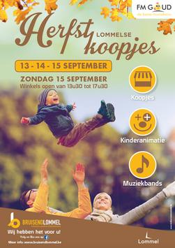 Dirk Van Bun Communicatie & Vormgeving - Grafisch ontwerp - reclame - publiciteit - Lommel - Affiche Bruisend Lommel - Herfstkoopjes