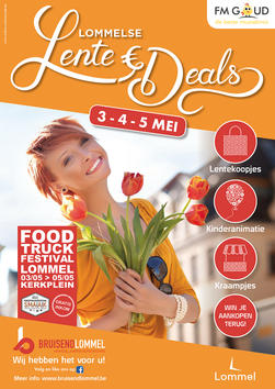 Van Bun Communicatie & Vormgeving - Grafische vormgeving - Lommel - Affiche Bruisend lommel - Lente Deals