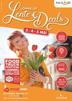 Dirk Van Bun Communicatie & Vormgeving - reclame - publiciteit - Grafisch ontwerp - Lommel - Affiche Bruisend lommel - Lente Deals
