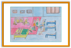 First award painting by Mentally Regarded Child.