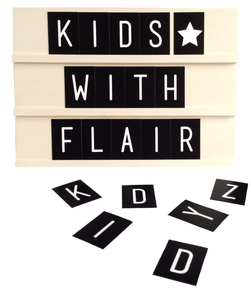 Review, Houten tekstbord, Kids With Flair, Dots Lifestyle, Interieur, Kinderkamerstyling, Alfabet