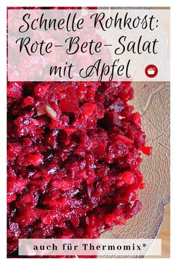 Rote-Beete-Salat mit Apfel #Rohkost #rotebete #rezeptethermomix #orgaBine