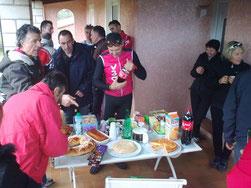 """Un """"petit"""" buffet bienvenu... Merci Georges et Elyane"""