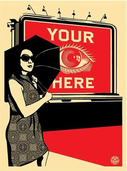 Shepatd Fairey Obey Billboard Eye 2008