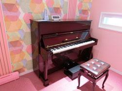 ピアノ、ギター、ウクレレ、管楽器室。