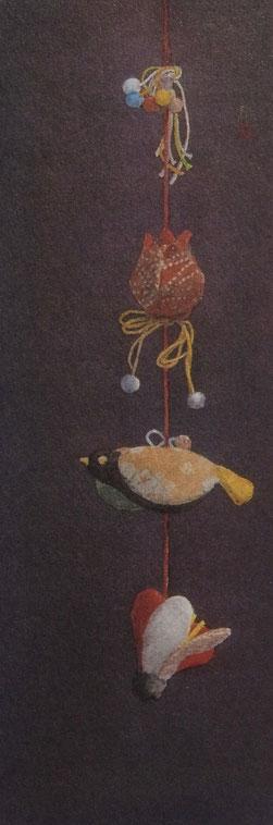 雛 (2005)     混合技法 / 53x18cm