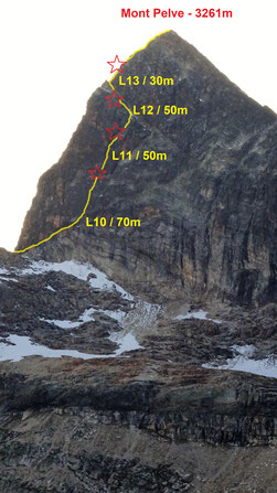 Pilier sud du Pelve, Vanoise, topo