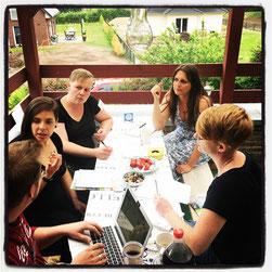 Sina Beerwald mit ihrer Workshopgruppe 2018