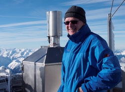 Robert Schardt auf dem Wetterturm der Zugspitze