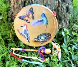 The Beautiful 12-Inch Hummingbird Drum from Shaman Drums And More