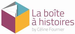Logo de La boite à Histoires. La boite à Histoires est une agence de muséographie dirigée par Céline Fournier
