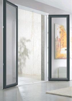 REHAU - porte fenêtre battante bicolore