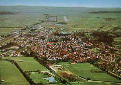 Vue aérienne de Mengen