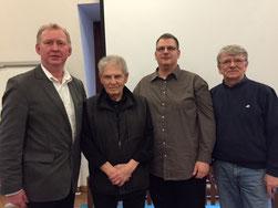 v.l. Dietmar Meißner, Volkmar Jaeger, Stefan Del Re, Joachim Großmann