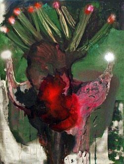Festive (Bull Series), Zeichentusche, Lack, Acryl/Leinwand, 2012