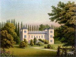 Schloss Tegel zwischen 1857 und 1883