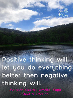 Yoga zu negativen Gedanken