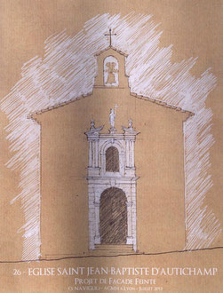 Esquisse du motif de façade : le résultat sera discret et moins contrasté