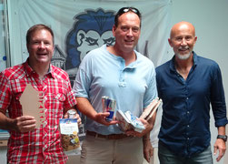 Podest Senioren 40+: 2. Andreas Funk, 1. Marco Lo Presti, 3. Nikola Gojkovic