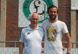 Sportlicher Leiter Detlef Blancke (links) ist sich sicher, dass Trainer Dario Fossi mit seiner Mannschaft eine erfolgreiche Saison spielen wird