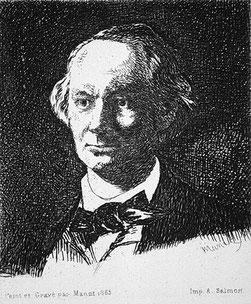 """""""Baudelaire"""", par Manet, 1865."""