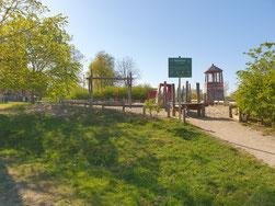 """Blick auf den """"Leuchtturmspielplatz"""""""