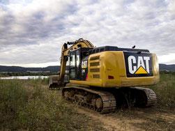Ende September rollten für kurze Zeit Baumaschinen durch das Naturschutzgebiet. - Foto: Kathy Büscher
