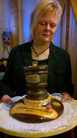 Pokale aus Schoki, das gabs auch noch nie! Danke an die Bäckerinnen Julia und Carina 😚
