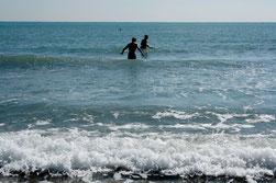 11 Ozean mit Menschen/Ocean with people