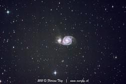 NGC 5194, Whirlpool Galaxy, M51, Messier 51, Whirlpool-Galaxie